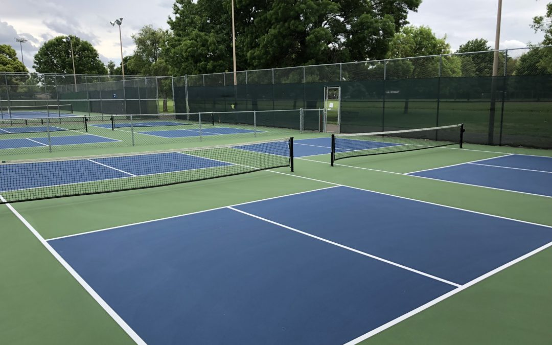 pickleball courts resurfaced