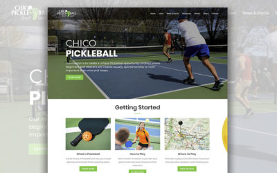 Chico Pickleball Website Launch