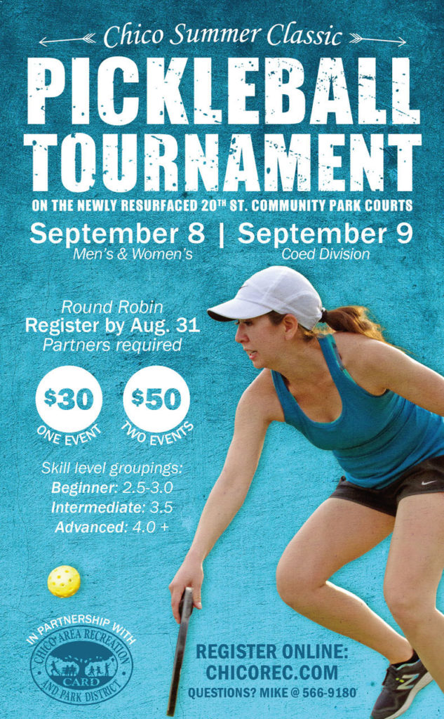 chico pickleball tournament 2018 flyer